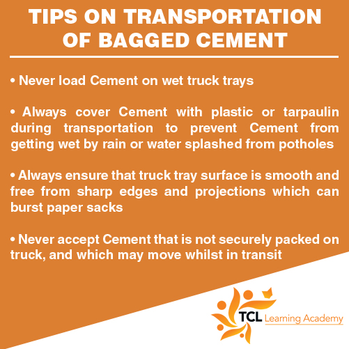 Tips on Transportation of Bagged Cement - TCL