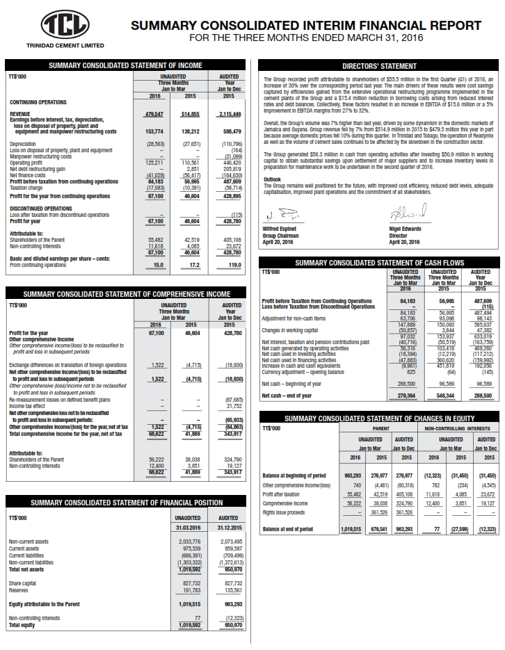 TCL Q1 2016 Financials 001